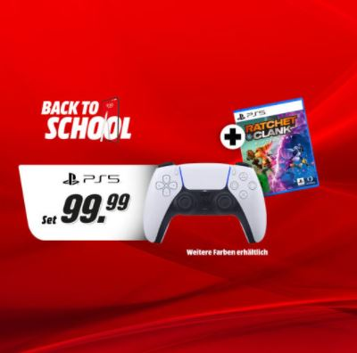 Bild zu Sony Dualsense Controller (PS5) + Ratchet & Clank: Rift Apart (PS5) für 99,99€ (VG: 115,75€)