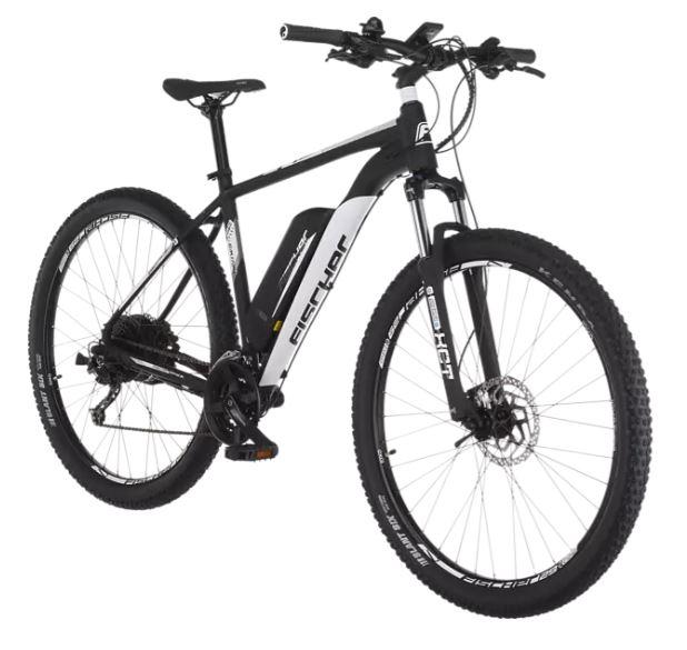 Bild zu FISCHER EM 1724 Mountainbike (Laufradgröße: 29 Zoll, Rahmenhöhe: 51 cm, Unisex-Rad, 422 Wh, Signalschwarz matt) für 1228,90€ (VG: 1428,90€)