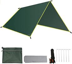 gracosy Zeltplane Wasserdicht, Tarp für Hängematte Regenschutz Sonnenschutz Camping Zelt [...]