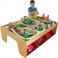 KidKraft 17850 Eisenbahnset und Spieltisch Waterfall Mountain Klassisches Spielzeugeisenb[...]