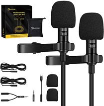 Lavalier Mikrofon, EIVOTOR 2 x 1,95m Handy Ansteckmikrophon mit Typ-C Adapter 2m Verlänge[...]
