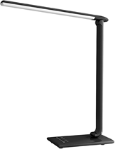 LED Nachttischlampe, Berührungssteuerung Tischlampe mit 5 Farbtemperaturen, 5 Helligkeits[...]