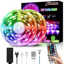 LED Streifen 10M, SOLMORE RGB Led Lichtband IP65 Wasserdicht 300LEDs SMD5050 LED Strip mi[...]