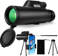 Monokulare Teleskop, HD 10X42 Starscope Monokular, Fernrohr mit Smartphone Halter und Sta[...]