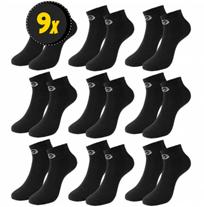 Sergio Tacchini Herren Sneakersocken 9 Paar schwarz