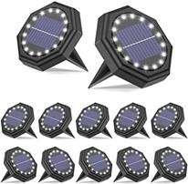 Solar Bodenleuchten Aussen?IP68 Wasserdichtes 16LED 12 Stück Batterie-Upgrade?SEZAC Solar[...]