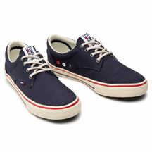 Turnschuhe TOMMY JEANS - Textile Sneaker EM0EM00001 Ink 006