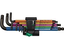 Wera 05073593001 950 9 Hex-Plus Multicolour 1 SB Multicolour Winkelschlüsselsatz, metrisc[...]