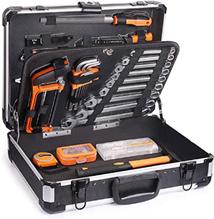 Werkzeugkoffer, 136-tlg Werkzeug, Aluminum Koffer, Hammer, Schraubendreher-Set, Zange, Hü[...]