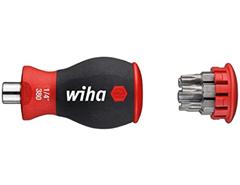 Wiha Magazin-Bithalter Stubby 3801-03 Mini Schraubendreher mit 6 Bits im Griff Schraubenz[...]