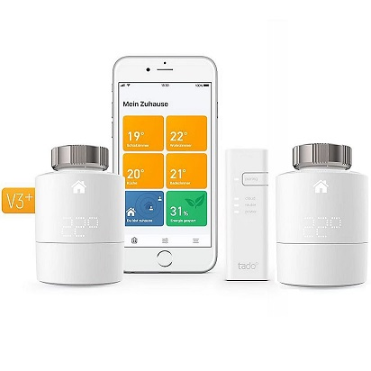 Bild zu tado° Smart Home Starter Kit V3+ mit 2 Heizkörper-Thermostaten und Bridge für 149,90€ (Vergleich: 179,95€)