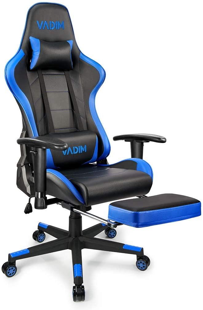 Bild zu VADIM Gaming-Stuhl mit Fußstütze und Lendenkissen für 98,99€