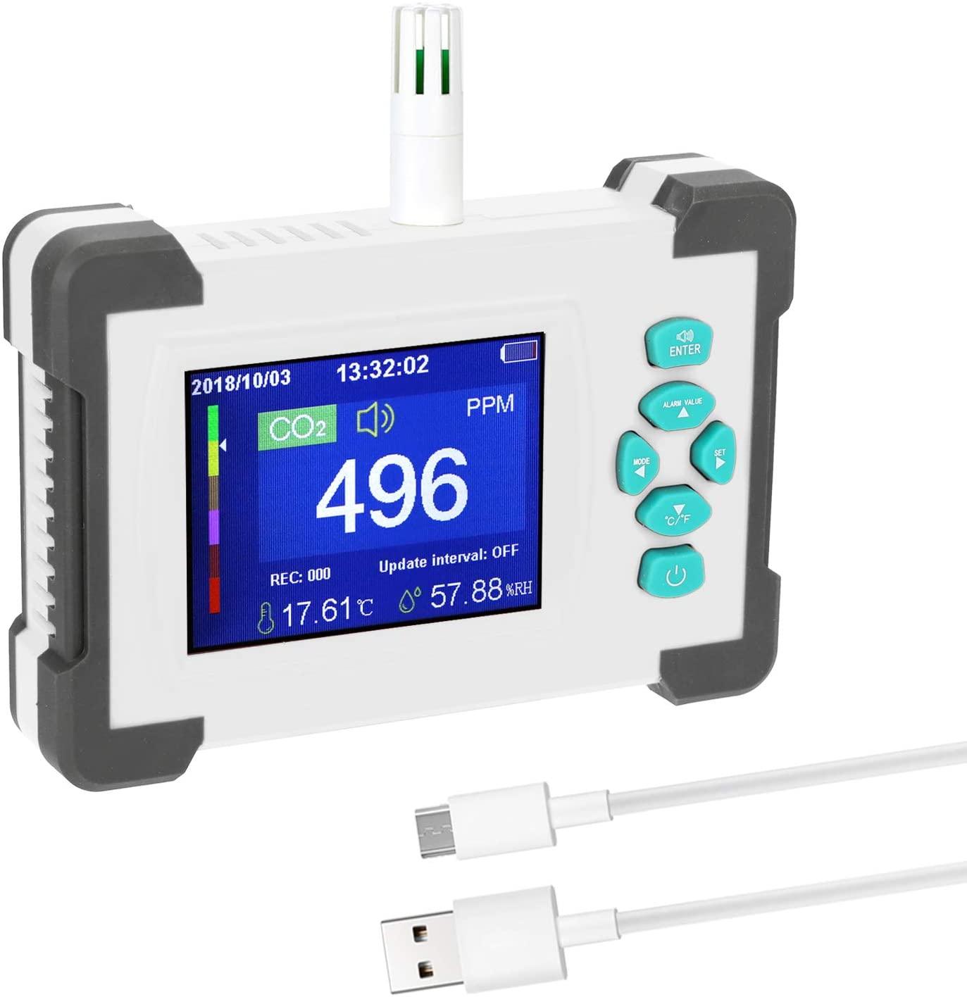 Bild zu Gecheer Kohlendioxid Detektor mit 3,2 Zoll Display für 34,99€