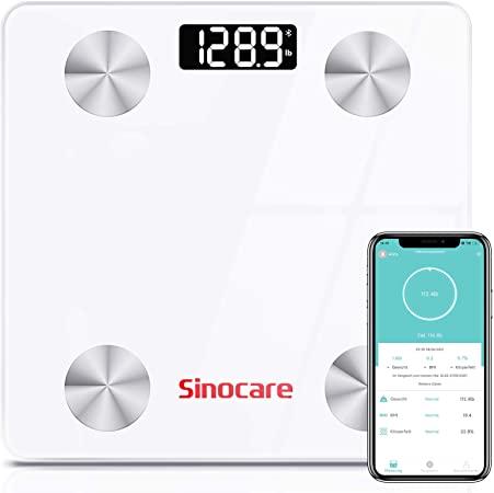 Bild zu sinocare Bluetooth-Personenwaage mit Körperanalyse und App für 12,99€