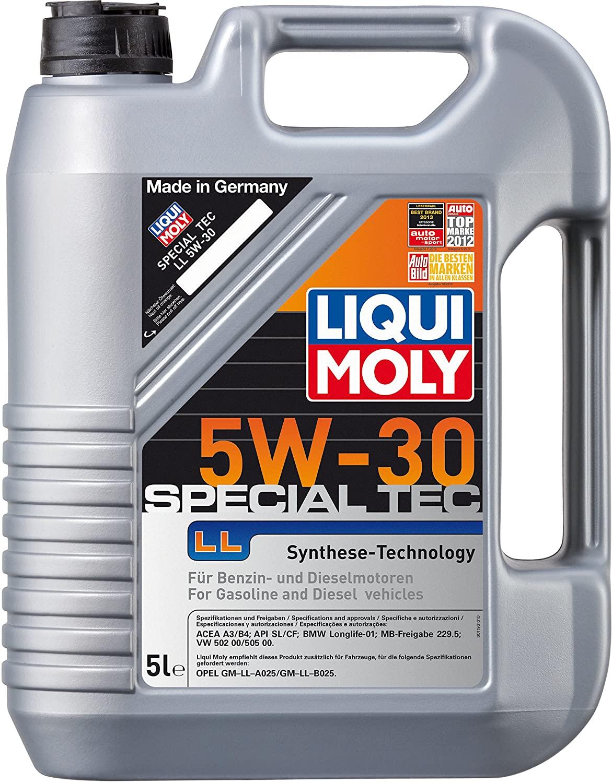 Bild zu [beendet] 5 Liter Motoröl Liqui Moly 1193 Special Tec LL 5W-30 für 27,85€ (Vergleich: 38,87€)
