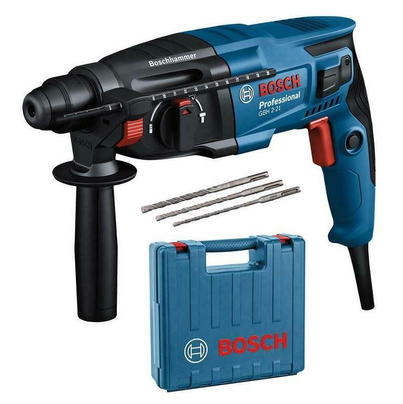 Bild zu Bosch SDS-Plus Bohrhammer GBH 2-21 Professional inkl. 3 tlg. Bohrersatz + Koffer für 89€ (VG: 104,64€)