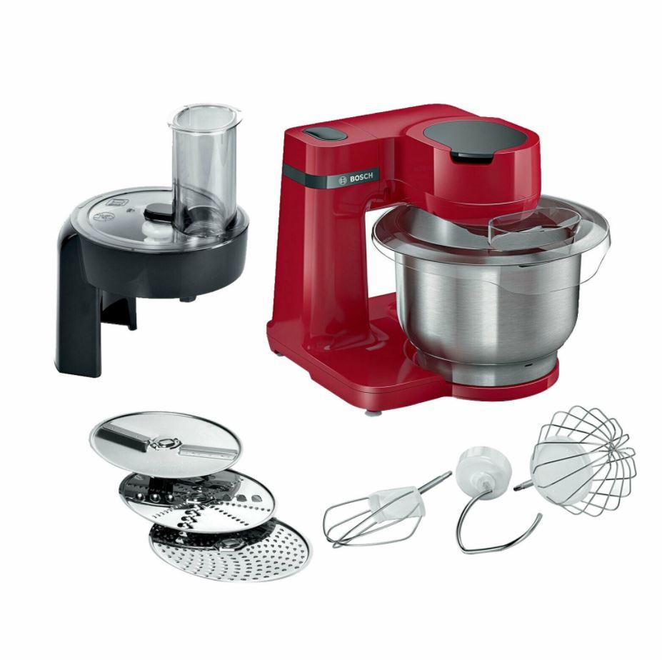 Bild zu Bosch MUMS2ER01 MUM Serie 2 Küchenmaschine (700W, 3,8 l, Edelstahl) für 99,90€ (VG: 123,96€)