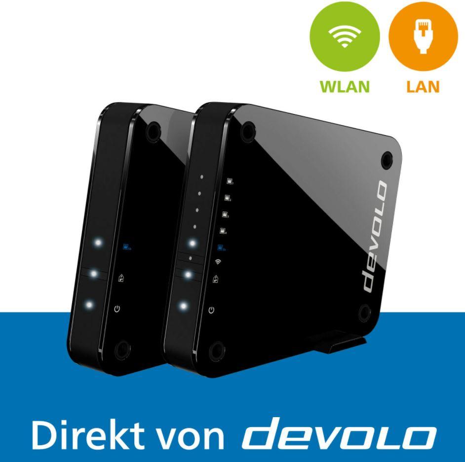 Bild zu devolo 9855 GigaGate Starter Kit WLAN-Repeater zertifiziert generalüberholt (WLAN Bridge 2000 MBit/s 2.4 GHz, 5 GHz) für 99,99€ (VG: 202,99€)