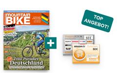 """Bild zu Jahresabo (12 Ausgaben) der Zeitschrift """"Mountainbike"""" für 64,90€ + 50€ Amazon/ShoppingBON Gutschein"""
