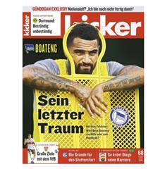 Bild zu 13 Ausgaben den Kicker gratis (anstatt 74,10€) – Kündigung notwendig