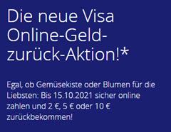 Bild zu Visa: bis zu 10€ Cashback bei Onlinezahlungen vom 15.09.–15.10.21