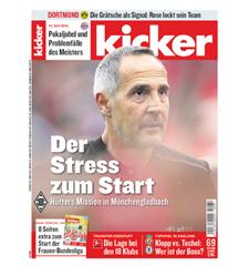 """Bild zu Jahresabo (104 Ausgaben) """"Kicker"""" für 238,80€ + 180€ Verrechnungsscheck als Prämie"""