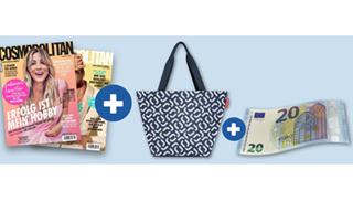 Bild zu [Top] 6 Ausgaben Cosmopolitan für 22,80€ + Gratis Reisenthel Shopper (VG: 16,85€) + 25€ Gutschein oder 20€ Geldprämie