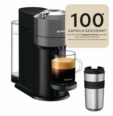 Bild zu Delonghi ENV120.GY VertuoNext Basic Nespressoautomat + Travel Mug 400ml für 41,93€ (Vergleich: 84,90€)