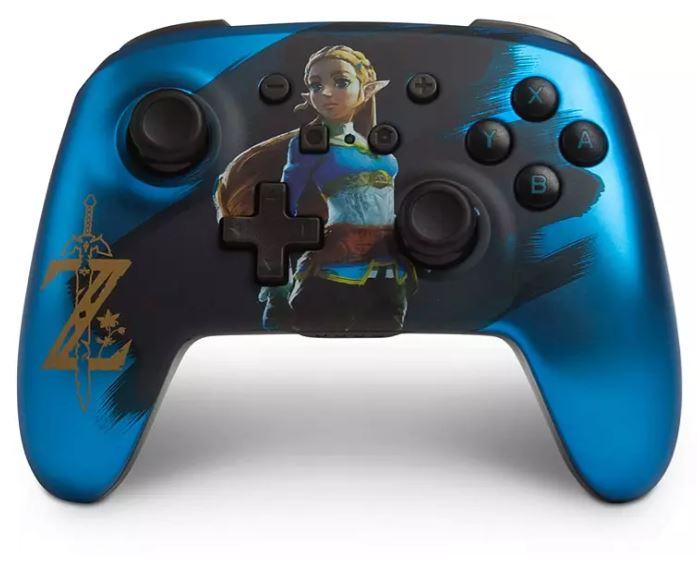 Bild zu PowerA Enhanced Wireless Controller für Nintendo Switch in Satinblau verchromter Zelda Edition ab 36,99€ (VG: 59,99€)