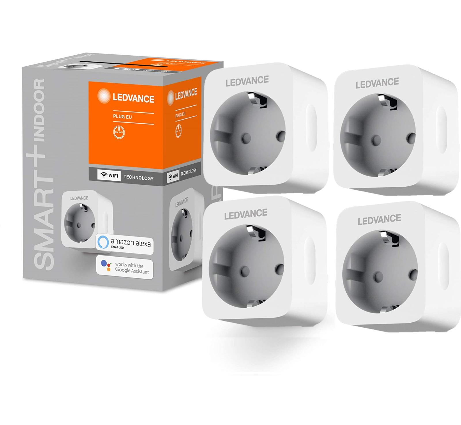 Bild zu 4er Pack LEDVANCE SMART+ Wifi Steckdosen für 24,99€ (Vergleich: 28,96€)