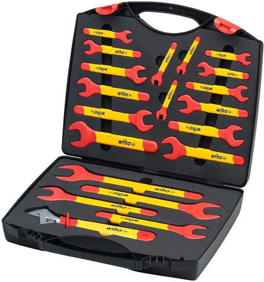 Bild zu 20-teiliges Wiha Einmaul-Gabelschlüssel Set im Koffer für 198,83€ (Vergleich: 283,31€)