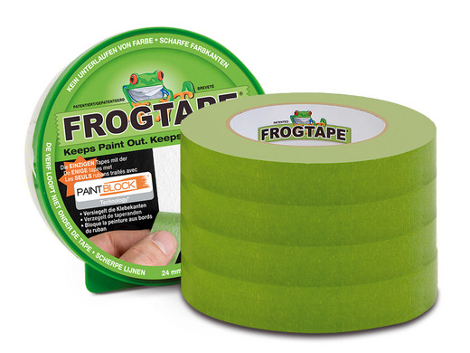 Bild zu 4 Rollen Frogtape Malerabdeckband 24 mm x 41,1 m für 23,90€ (Vergleich: 31,52)