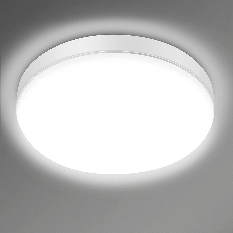 Bild zu 24 Watt LED-Deckenleuchte (IP54, 2.200LM, 6000K Kaltweiß) für 13,79€