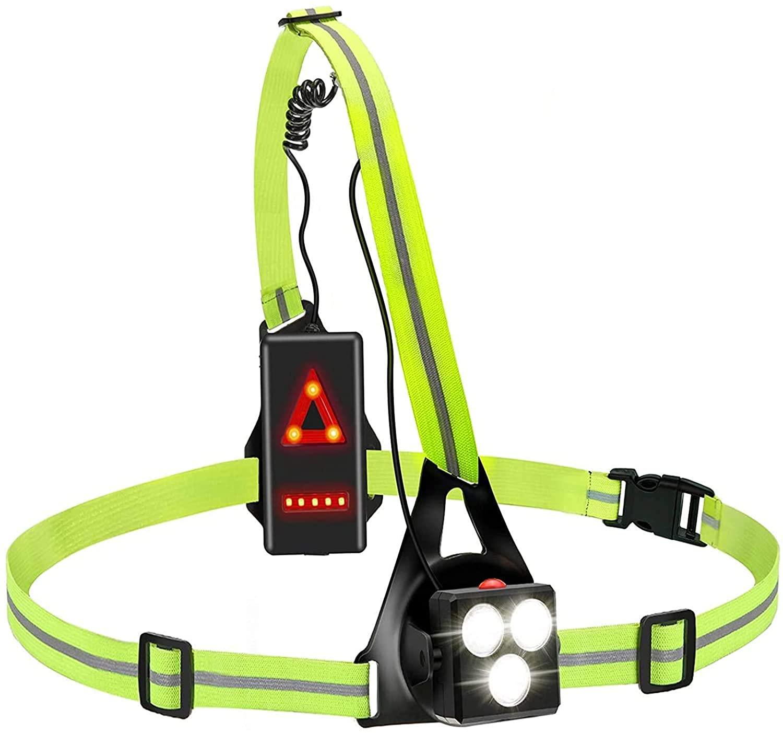 Bild zu BRGOOD wiederaufladbares USB LED-Lauflicht für 9,56€