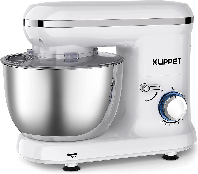 Bild zu 1.500 Watt Kuppet Küchenmaschine mit 4,5 Liter Rührschüssel für 59,99€