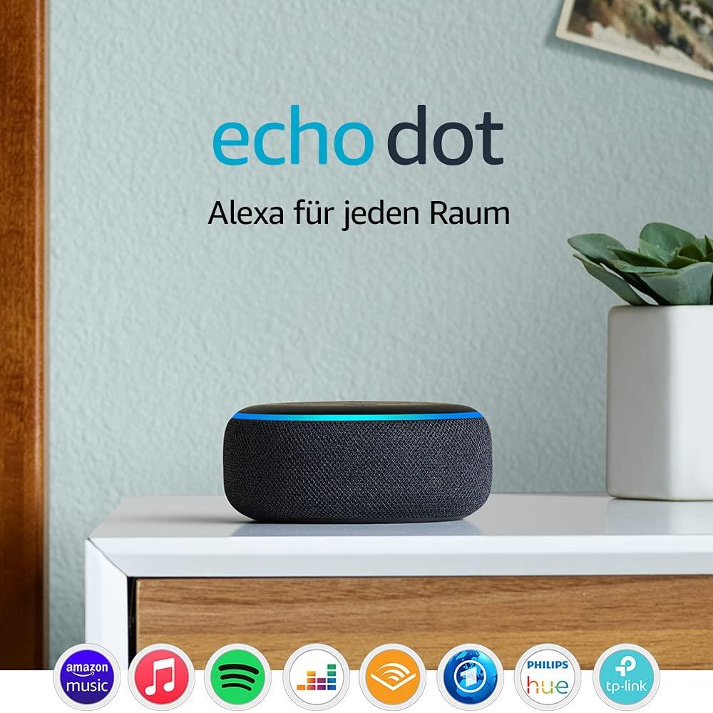 Bild zu Intelligenter Lautsprecher Echo Dot (3. Generation) mit Alexa für 24,99€ (Vergleich: 33,98€)
