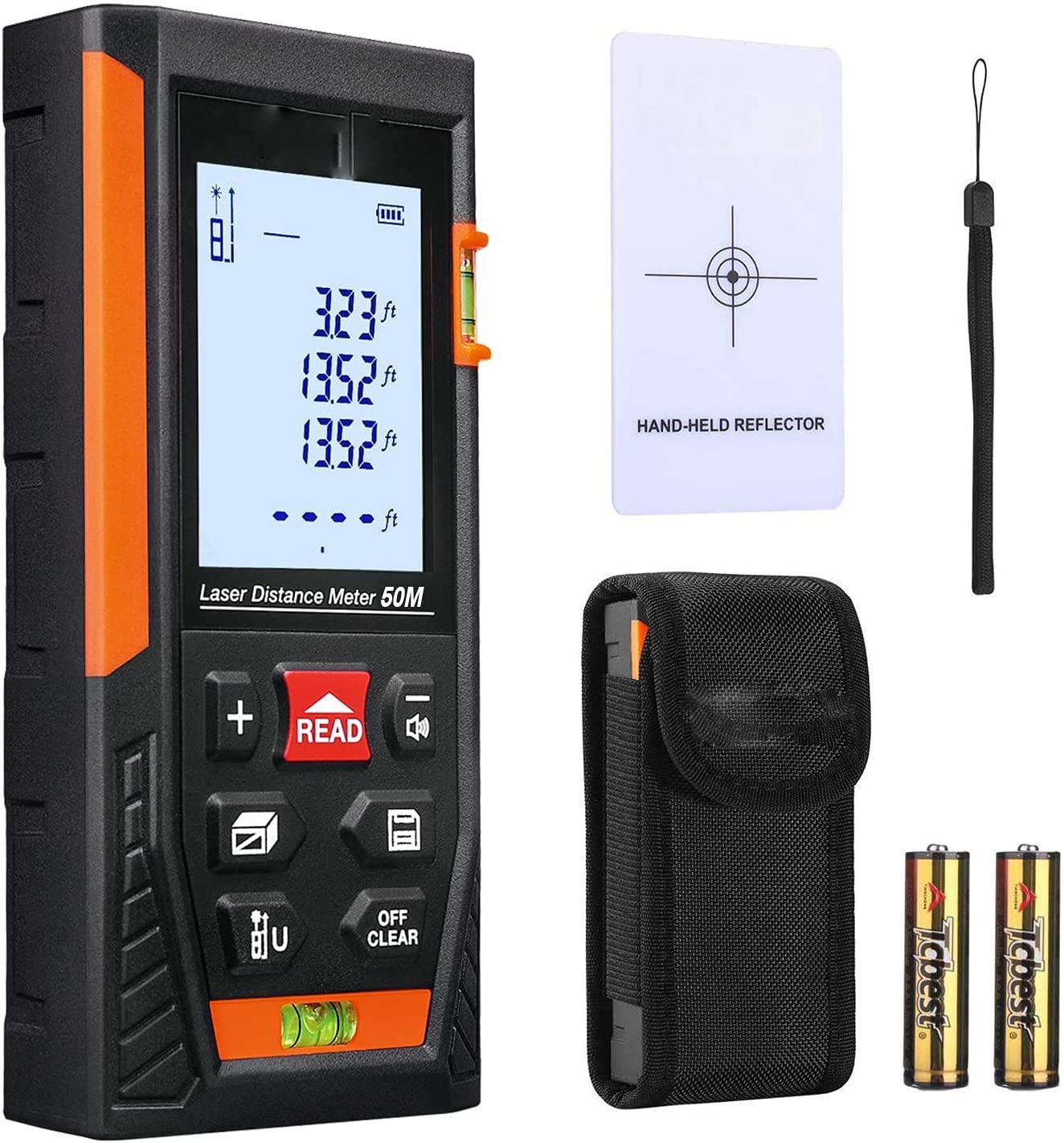 Bild zu Laser Entfernungsmesser mit zwei Libellen und LCD-Hintergrundbeleuchtung für 16,99€