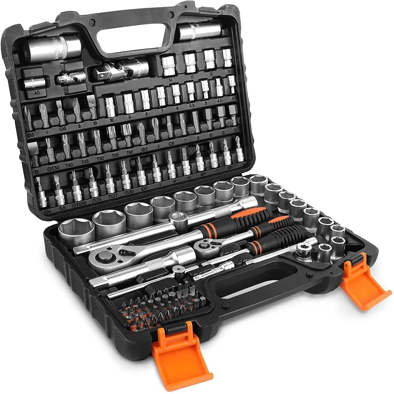 Bild zu 119-teiliger Tacklife Werkzeugkoffer für 32,99€