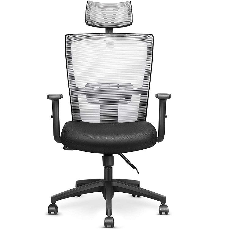 Bild zu mfavour ergonomischer Schreibtischstuhl mit verstellbarer Wippfunktion für 101,99€