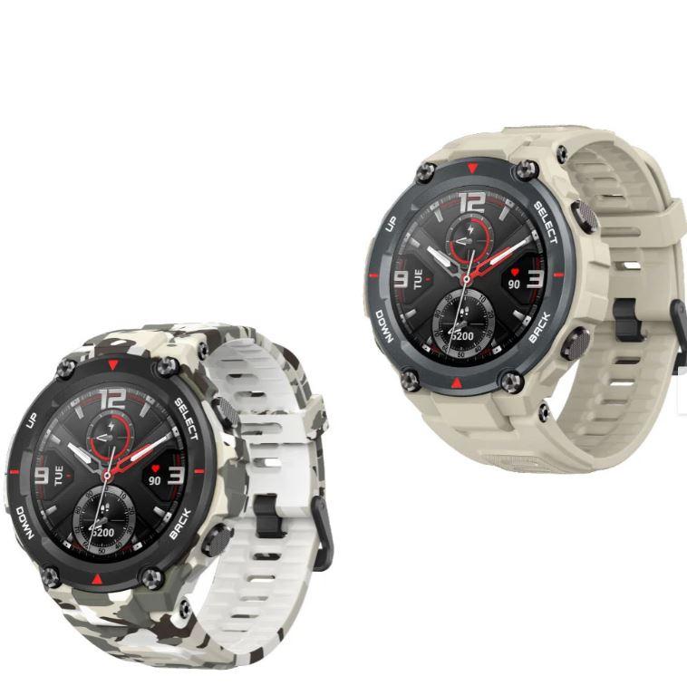 Bild zu Amazfit Smartwatch T-Rex in Kakhi oder Camo für 49,99€ (VG: 69,99€)
