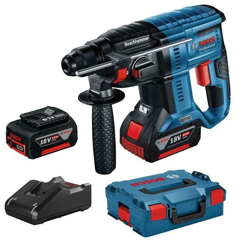 Bild zu Bosch Akku-Bohrhammer GBH 18V-21 Professional 2x 4.0 Ah Akku für 233,75€ (VG: 265,90€)