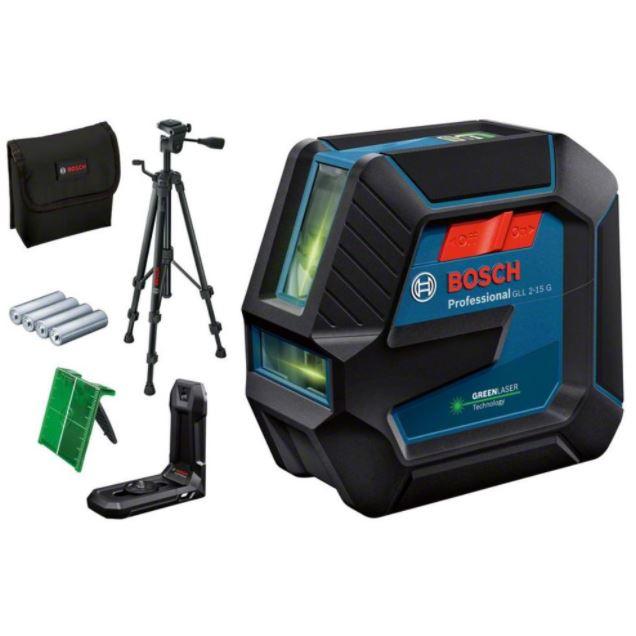 Bild zu Bosch Professional GLL 2-15 G (grüner) Linienlaser + BT150 Stativ für 127,86€(VG: 142,91€)