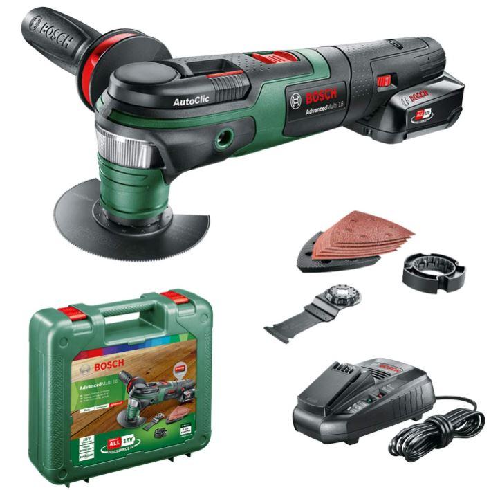 Bild zu Bosch Akku Multifunktionswerkzeug AdvancedMulti 18 (1 Akku, 18 Volt System, im Koffer) für 118,87€ (VG: 142,19€)