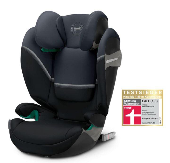 Bild zu CYBEX Gold Kinder-Autositz Solution S i-Fix (ISOFIX, 100 – 150 cm, Ab ca. 3 bis ca. 12 Jahre, Granite Black) für 157,06€ (VG: 189,95€)