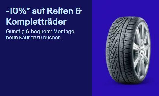 Bild zu [bis Mitternacht] eBay: 10% Rabatt auf Reifen & Kompletträder