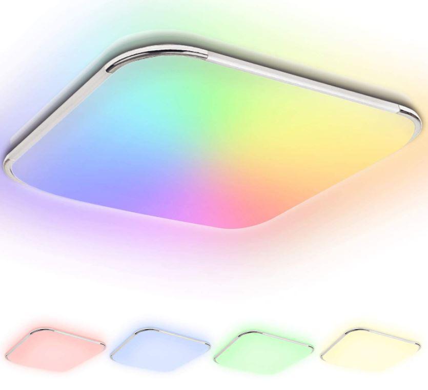 Bild zu 40% Rabatt auf 5 verschiedene EINFEBEN RGB LED Deckenleuchten (Farbwechsel, inkl. Fernbedienung) von 24W bis 96W – z.B. 24W Version für nur 18,59€