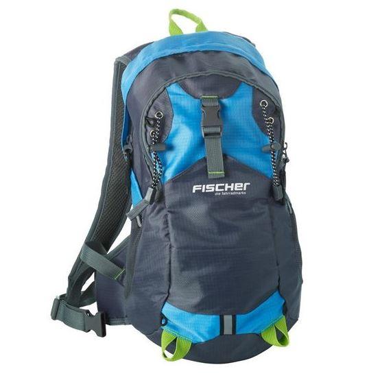 Bild zu FISCHER Fahrrad Rucksack blau 15l (Helmnetz, Regencover, Trinksystemhalterung) für 23,99€ (VG: 29,99€)