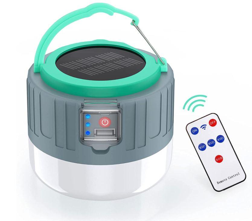 Bild zu Generic LED Camping (Aufladbar, Solar/USB, mit Fernbedienung, IP65) für 11,99€ dank 40% Rabatt