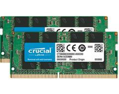 Bild zu Crucial CT2K16G4SFD8266 32GB (16GB x2) Speicher Kit (DDR4, 2666 MT/s, PC4-21300, Dual Rank x8, SODIMM, 260-Pin) für 118,31€ (Vergleich: 142,17€)
