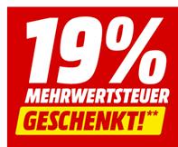 Bild zu MediaMarkt: ab Sonntag 8 Uhr 19% MwSt.-Rabatt auf ausgewählte Artikel (15,97% Rabatt)